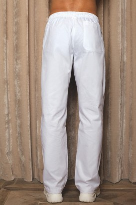 Pantalon JOHN homme blanc