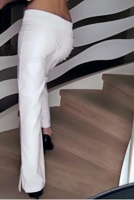 Pantalon YOGA blanc Grande longueur