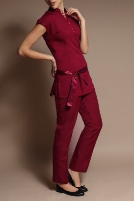 Pantalon LOTUS bordeaux