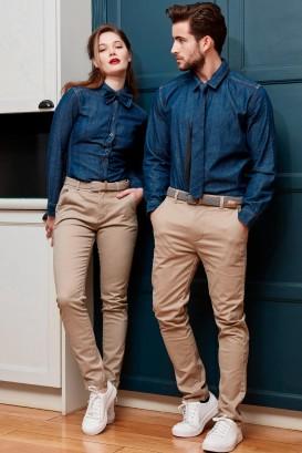 Pantalon chino ADAM Stone 1