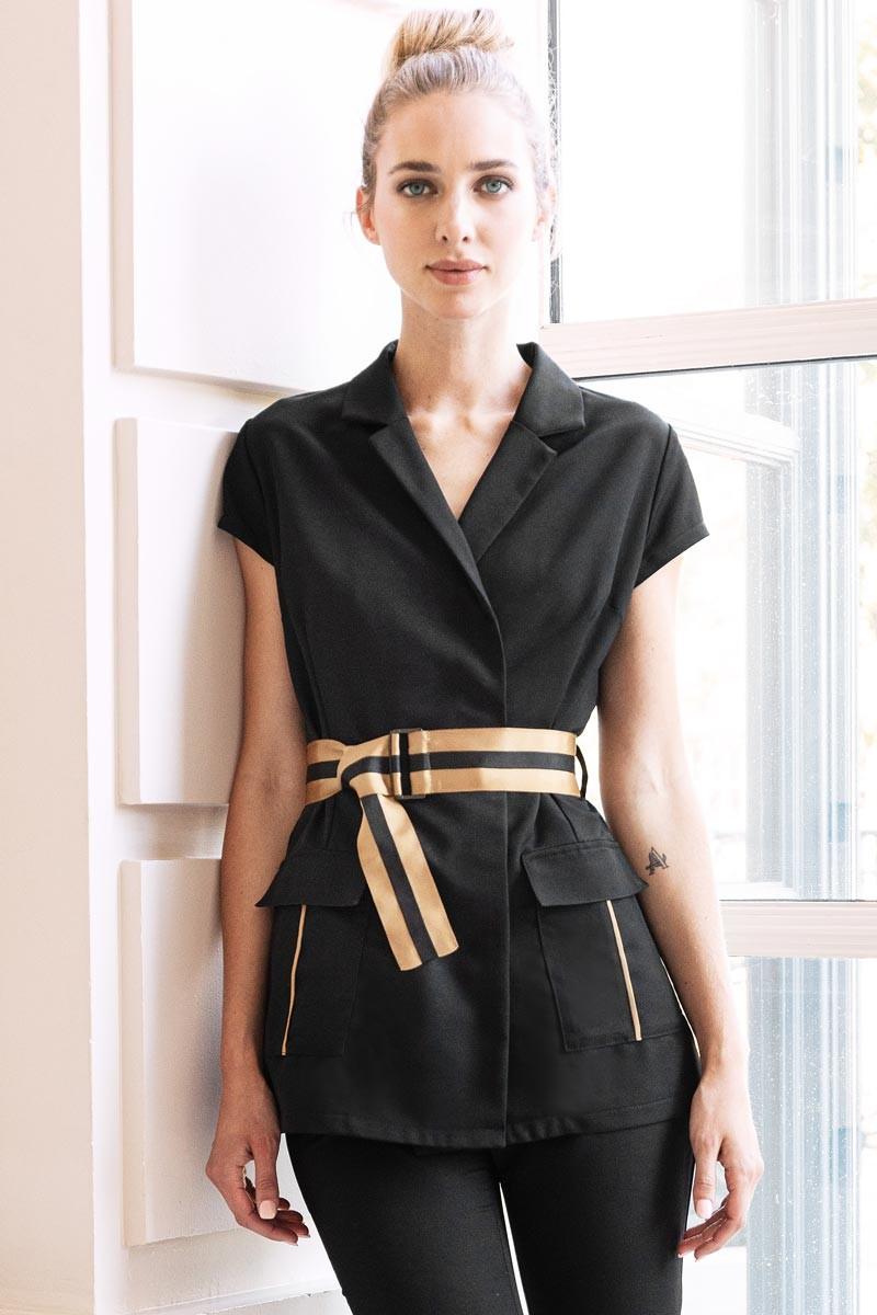 Tunique hôtesse d'accueil pour les métiers de l'esthétique et de l'hôtellerie. Vêtement professionnel Beauty Street